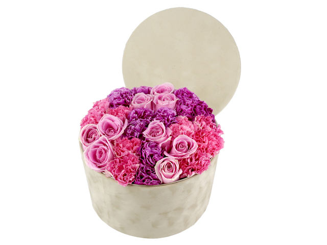Order Flowers in Box - Carnations flower box 2 - L36514327 Photo
