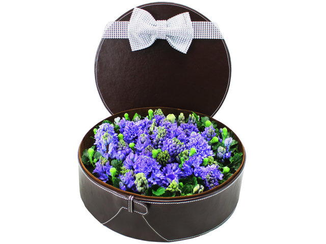 Order Flowers in Box - Hyacinthus Box - L12027 Photo
