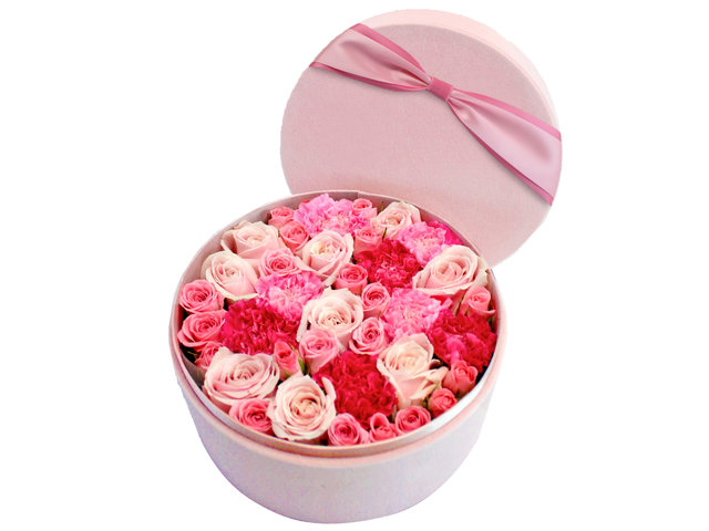 Order Flowers in Box - Min Kenya Rose Flower Box 1 - L154423 Photo