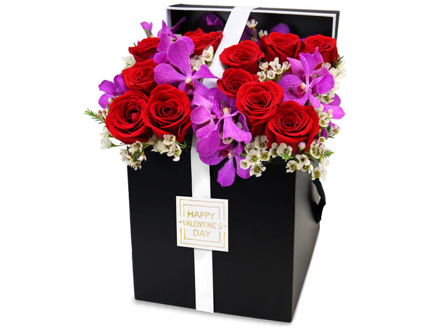 Order Flowers in Box - Valentine's Day gift box flowers PD33 - VB20126A2 Photo