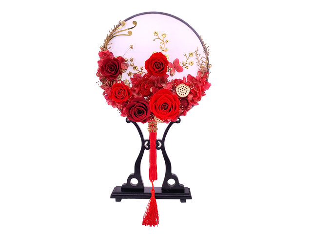 Preserved Forever Flower - Chinese wedding preserved flower bridal bouquet table décor 0417A1 - PT0417A1 Photo