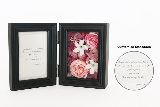 Preserved Forever Flower - Foldout Photo Frame with Preserved Flower M40  - L45000076 Photo