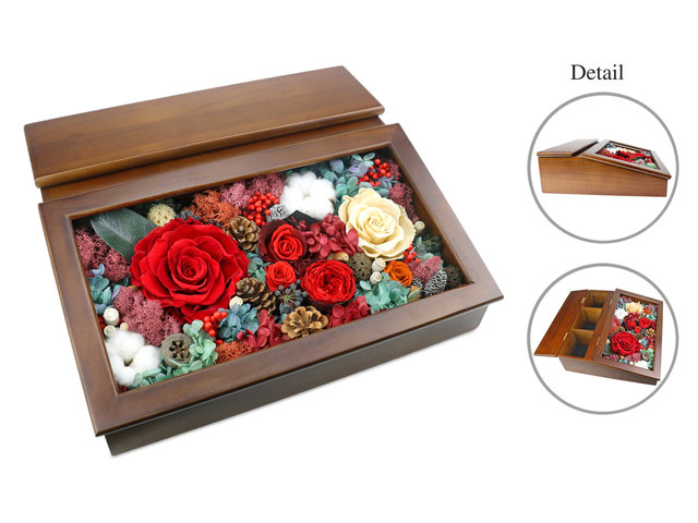 Preserved Forever Flower - Hidden Love Preserved Flower Box M33 - L36515416 Photo