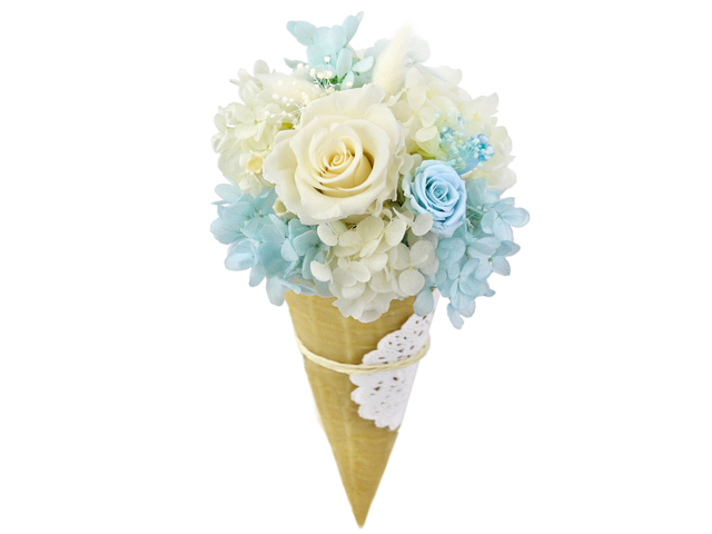 Light Blue Preserved Flower M16