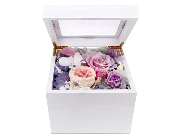 Preserved Forever Flower - Preserved & Dried Flower music box M65 - PR0103A5 Photo