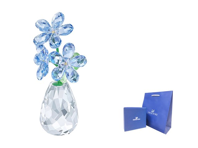 Swarovski Crystal  - Swarovski-Crystal FLOWER DREAMS - FORGET-ME-NOT  - CN0518A3 Photo