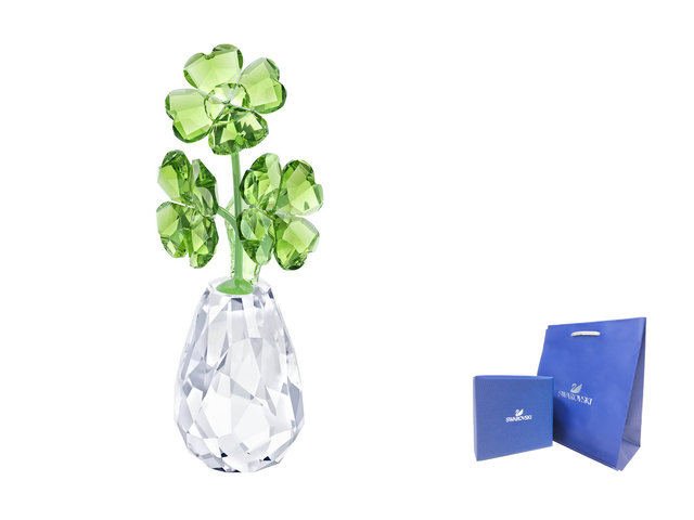 Swarovski Crystal  - Swarovski-Crystal FLOWER DREAMS - FOUR-LEAF CLOVERS - SI0320A1 Photo