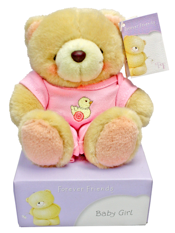 Teddy Bear n Doll - Hallmark Forever Friends Baby girl Teddy - L177723 Photo