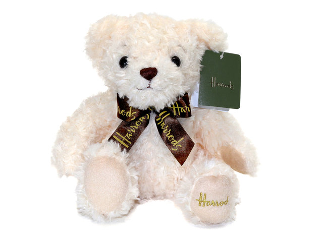 Teddy Bear n Doll - Harrods Classic Cream Bear - L153977 Photo
