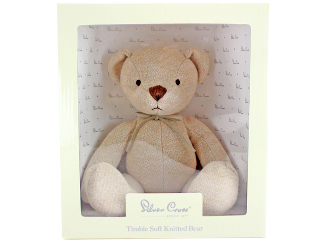 Teddy Bear n Doll - Silver Cross Timble Soft Knitted Bear - L116305 Photo