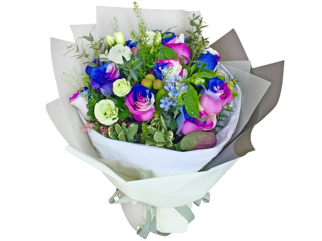 Weekly Import Flower - Valentines Day Limited Edition - Purple/Blue/White rose bouquet LEB13 - BV2S0115A3 Photo