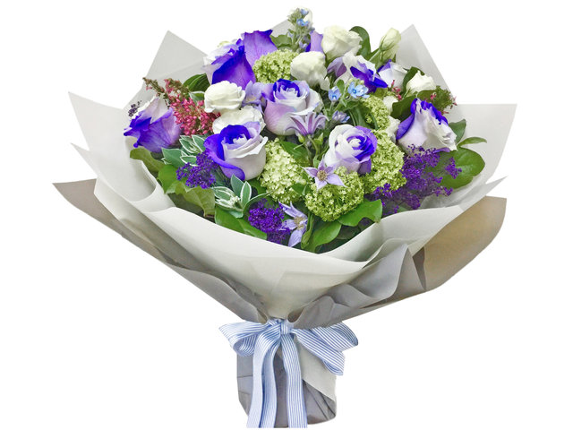 Weekly Import Flower - Valentines Day Limited Edition - Purple/White rose bouquet LEB12 - BV2S0115A1 Photo