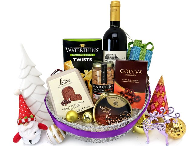 Wine n Food Hamper - Christmas Gift Hamper X1 - XH1114A1 Photo