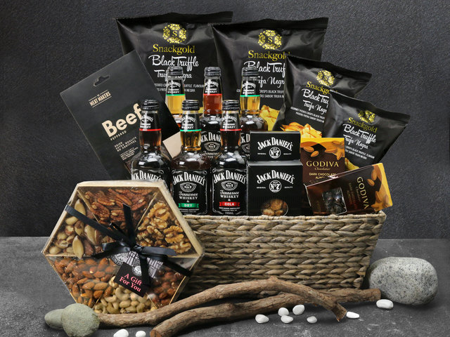 Wine n Food Hamper - Christmas Party Hamper L4 - L76609267 Photo