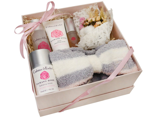 Wine n Food Hamper - Crabtree and Evelyn skin care gift box - SE0228A2 Photo
