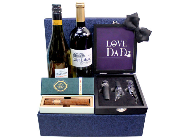 Wine n Food Hamper - Father's Day gift hamper F3 - L3122975 Photo