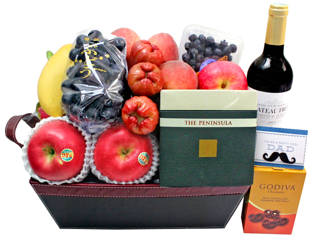 Wine n Food Hamper - Father's Day gift hamper F8 - L3123013 Photo