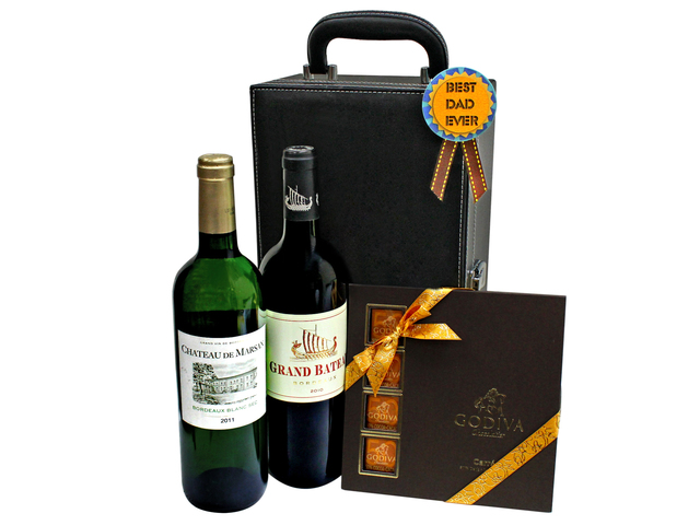 Wine n Food Hamper - Father's day wine gift hamper G1 - L7777883 Photo