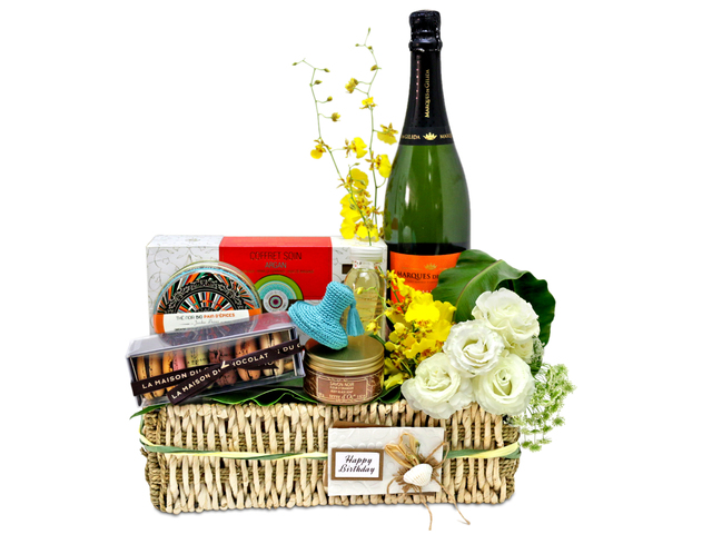 Wine n Food Hamper - France, terre d'Oc Coffret Soin Argan Massage Gift Set - L76602836 Photo