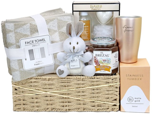 Wine n Food Hamper - Francfranc skincare gift basket S14 - SE0126B1 Photo