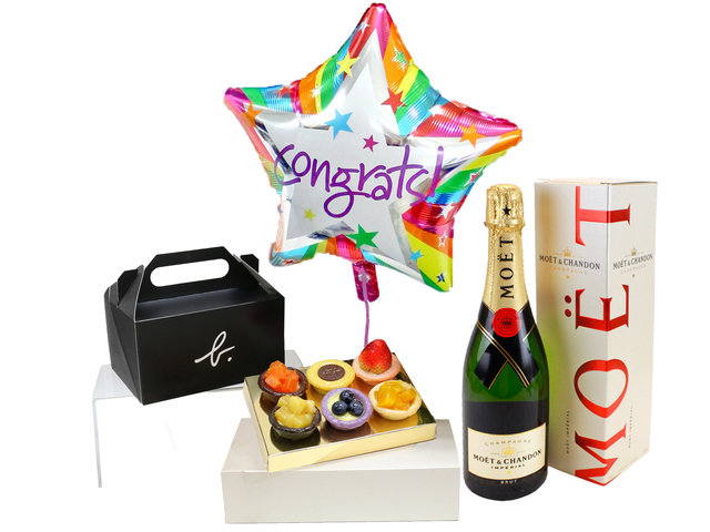 Wine n Food Hamper - Fruit Tart MOET gift set - L3153750H Photo