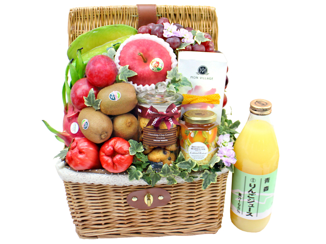 Wine n Food Hamper - Fruit gift hamper G10 - L3120045 Photo
