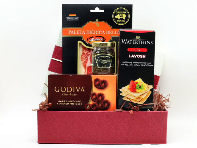 Wine n Food Hamper - Gift hamper A4 - L76607054 Photo