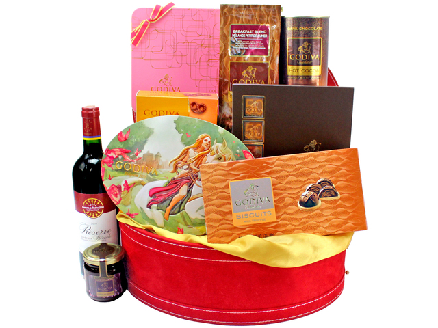 Wine n Food Hamper - Godiva - Wine Food Hamper 01 - L134213 Photo