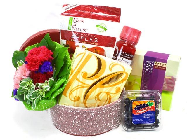 Wine n Food Hamper - Health Hamper and Flower 5 - L32581 Photo