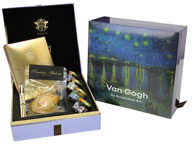 Wine n Food Hamper - Michelin Fine Art Abalone with honey Box Set - HR1025A5 Photo
