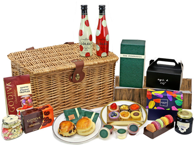 Wine n Food Hamper - Picnic Gift Hamper G34 - L76606610 Photo