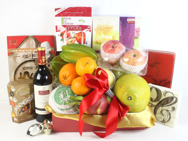 Wine n Food Hamper - ShopThruPost - CNY Hamper D - L61226 Photo