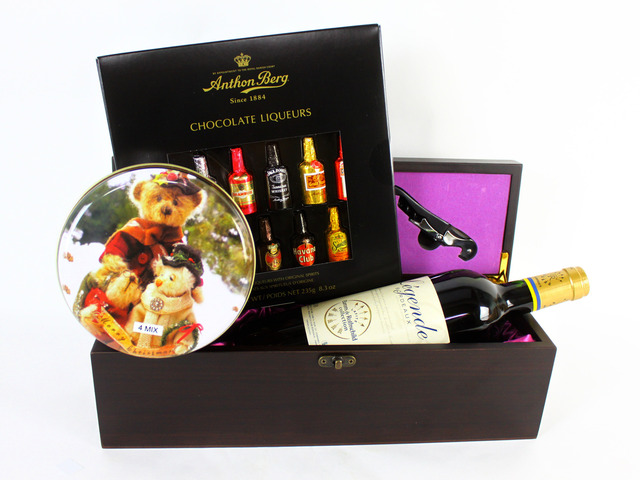 Wine n Food Hamper - Wine Box Gift W2 - L19148 Photo