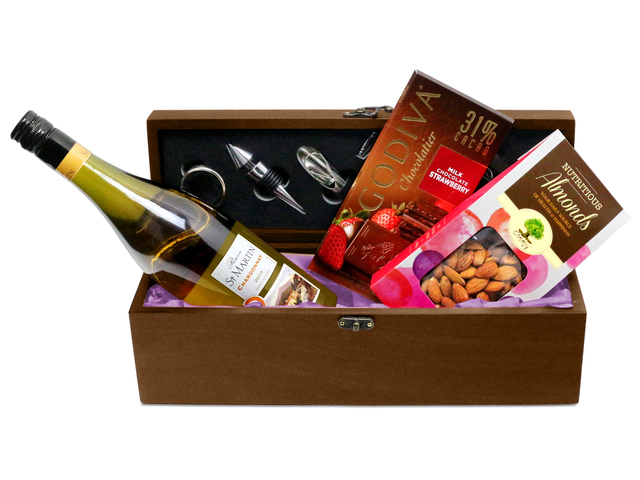 Wine n Food Hamper - Wine Box Gift W8 - L76601747 Photo