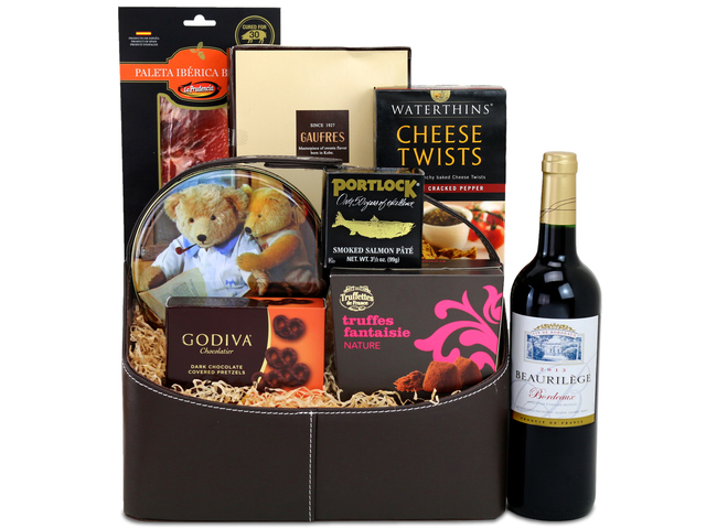 Wine n Food Hamper - Wine Food Gift Hamper C8 - L132601 Photo