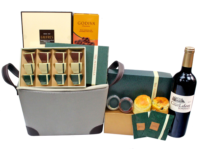 Wine n Food Hamper - Wine n Food Hamper - Wine Food Gift Hamper C68 - L3122939b Photo