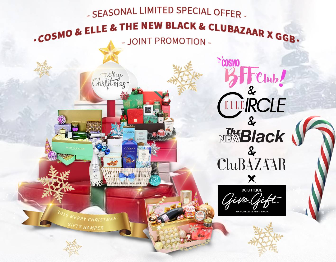 2019 Elle X Cosmopolitan X The New Black X Ggb Limited Hong Kong Christmas Gifts