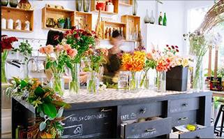 Hong Kong Florist GGB Flower Shop Interior 1
