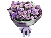 Romantic Purple Rose Bouquet Same Day Delivery
