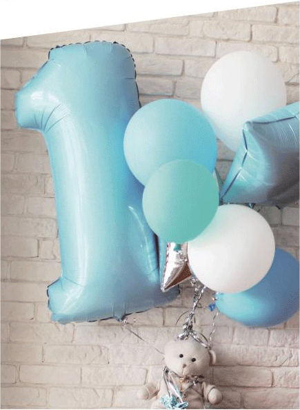 New Born Baby  Helium Balloon