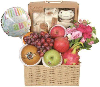 Baby Flower Gift Basket