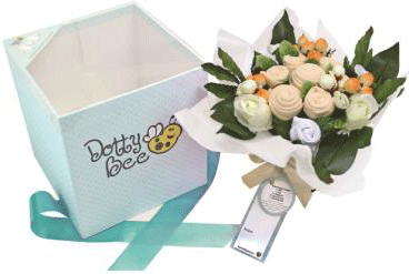 Infant Flower Gift Basket