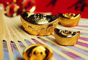 Traditional Chinese Ancient Gold Bullion