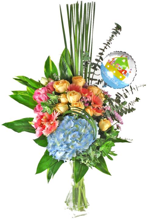 Congratulations Flower Basket