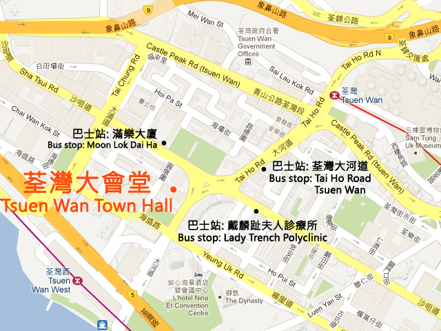 Tsuen Wan Town Hall Map