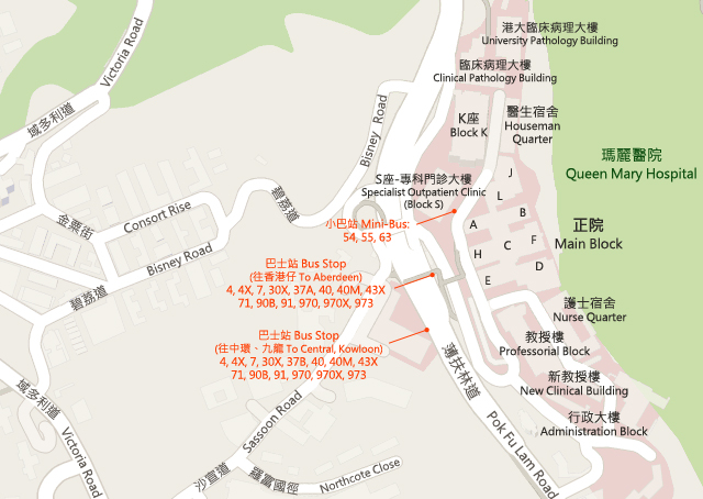 Queen Mary Hospital Map