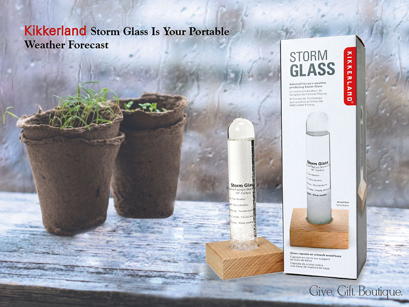 Kikkerland Storm Glass Is Your Portable Weather Forecast