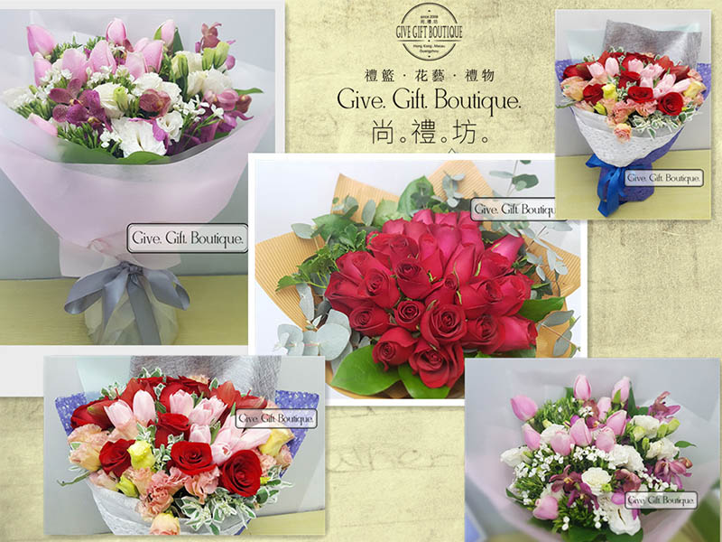 Hong Kong Give Gift Boutique Florist - Flower Delivery Info Third week of May 2019